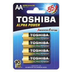 Toshiba alkáli elem AA/4db