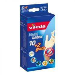 Vileda Multi Latex eldobható kesztyű 10+2db