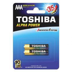 Toshiba alkáli elem AAA/2db