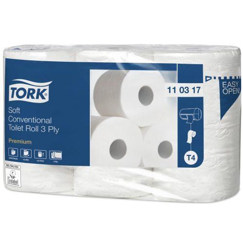 Tork Soft kis tekercses toalettpapír 3 rétegű T4