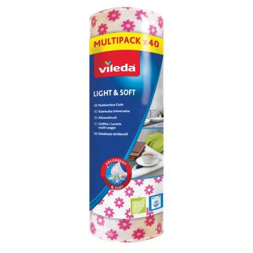 Vileda Light&Soft eldobható törlőkendő 40 db