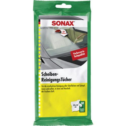 Sonax Üvegtisztító kendő 10db-os