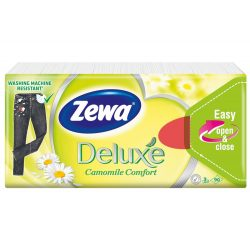 Zewa Deluxe Camomile papírzsebkendő 90db