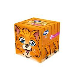 Zewa Kids 3D papírzsebkendő box cica
