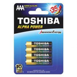 Toshiba alkáli elem AAA/4db