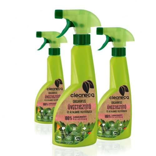 Cleaneco Organikus Üvegtisztító és Általános tisztítószer 500ml